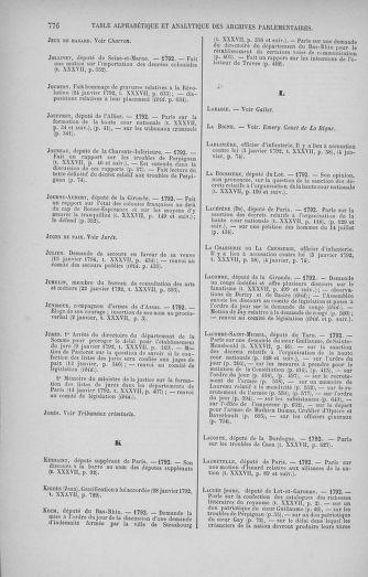 Tome 37 : Du 2 au 28 janvier 1792 - page 776