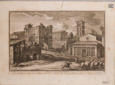 Velabro, veduta ad est della Piazza di San Giorgio