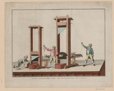 Egte afbeelding van de guillôtine te Parys [estampe]