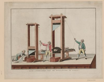 Egte afbeelding van de <em>guillôtine</em> te Parys [estampe]