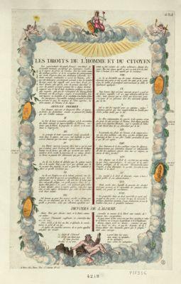 Les  Droits de l'homme et du citoyen [estampe]