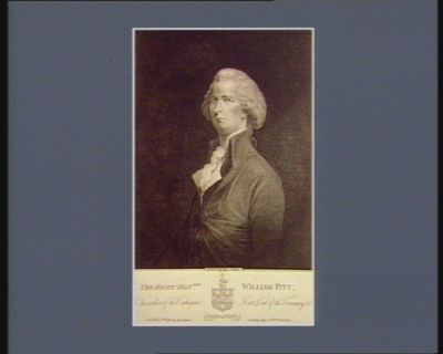 The  Right hon.ble William Pitt Chancellor of the Exchequer, first Lord of the Treasury, &c : [estampe]