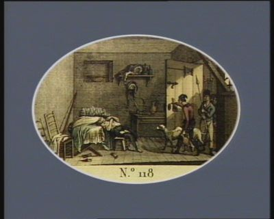 N.o 118 10 germinal (28 mars 1794). Condorcet se donnant la mort dans sa prison... : [estampe]