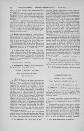 Tome 27 : Du 6 juin au 5 juillet 1791 - page 14