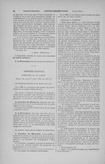 Tome 27 : Du 6 juin au 5 juillet 1791 - page 54