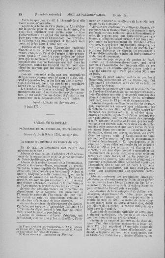 Tome 27 : Du 6 juin au 5 juillet 1791 - page 88