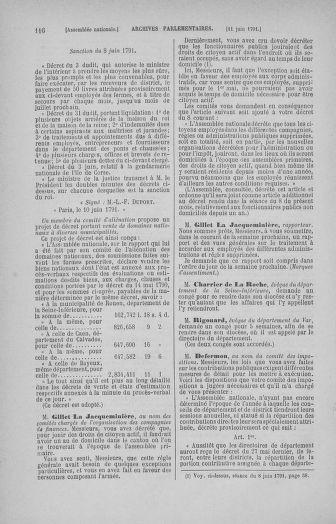 Tome 27 : Du 6 juin au 5 juillet 1791 - page 116