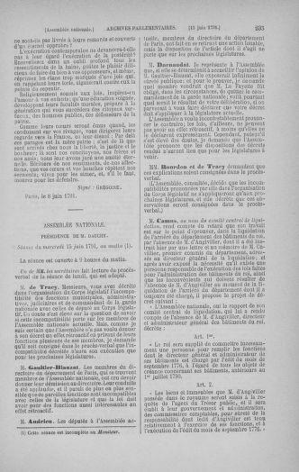 Tome 27 : Du 6 juin au 5 juillet 1791 - page 235