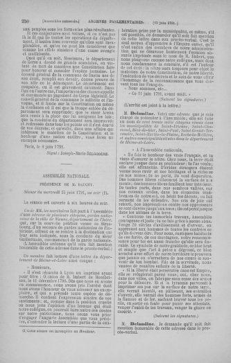 Tome 27 : Du 6 juin au 5 juillet 1791 - page 250