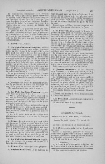 Tome 27 : Du 6 juin au 5 juillet 1791 - page 277