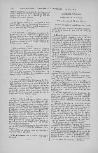 Tome 27 : Du 6 juin au 5 juillet 1791 - page 284