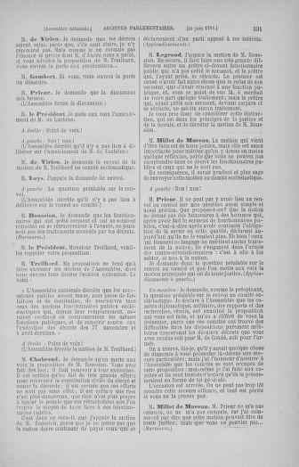 Tome 27 : Du 6 juin au 5 juillet 1791 - page 331