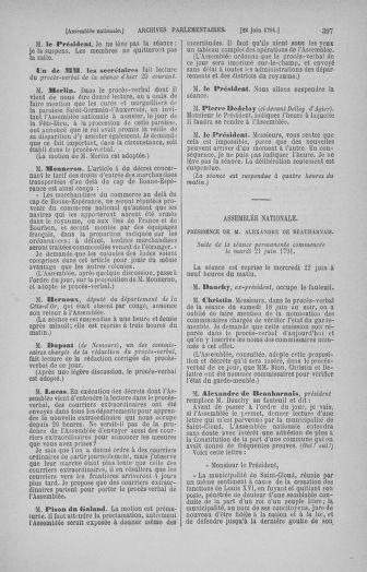 Tome 27 : Du 6 juin au 5 juillet 1791 - page 397