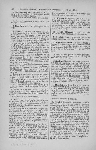 Tome 27 : Du 6 juin au 5 juillet 1791 - page 428
