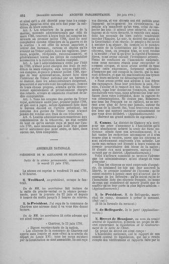 Tome 27 : Du 6 juin au 5 juillet 1791 - page 464