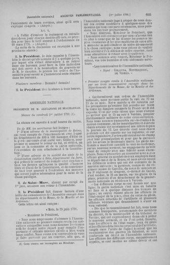 Tome 27 : Du 6 juin au 5 juillet 1791 - page 605