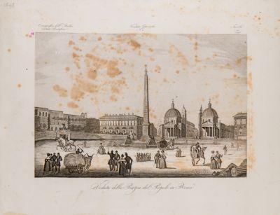 Piazza del Popolo con sfondo del Babbuino
