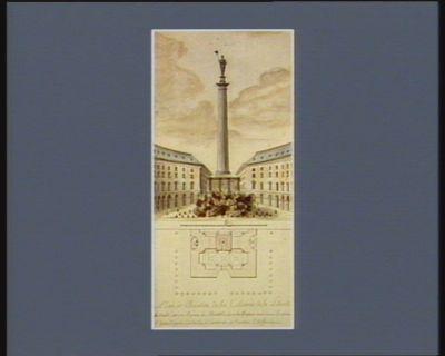 Plan et élévation de la colonne de la Liberté [dessin]