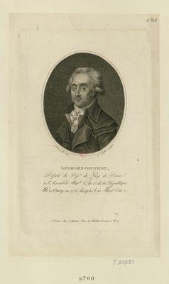 Géorges Couthon député du département du Puy de Dome à l'Assemblée nat.le l'an 1.er de la République, né à Orsay en 1756 décapité le 10 ther.dor l'an 2 : [estampe]