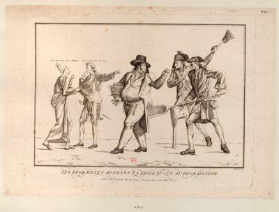 Les  Dégraissés donnant la pelle au cul au dégraisseur [estampe]