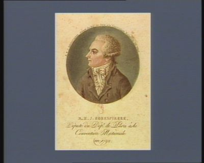 M.M.J. Robespierre député du dép.t de <em>Paris</em> à la Convention nationale en 1792 : [estampe]