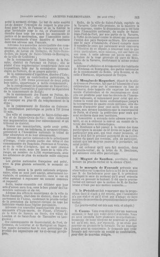 Tome 15 : Du 21 avril au 30 mai 1790 - page 315