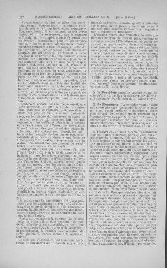 Tome 15 : Du 21 avril au 30 mai 1790 - page 322