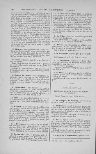Tome 15 : Du 21 avril au 30 mai 1790 - page 384
