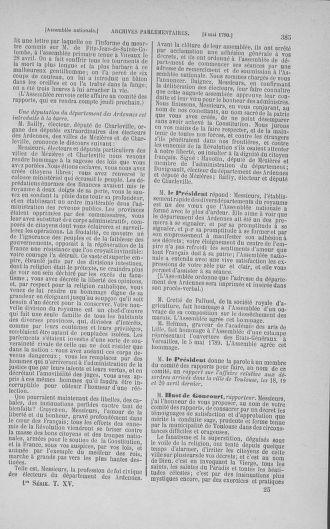 Tome 15 : Du 21 avril au 30 mai 1790 - page 385