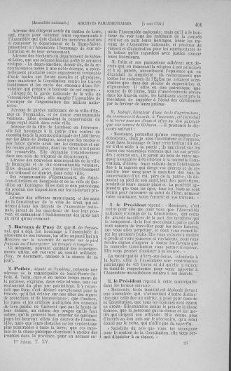 Tome 15 : Du 21 avril au 30 mai 1790 - page 401