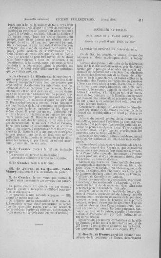 Tome 15 : Du 21 avril au 30 mai 1790 - page 411