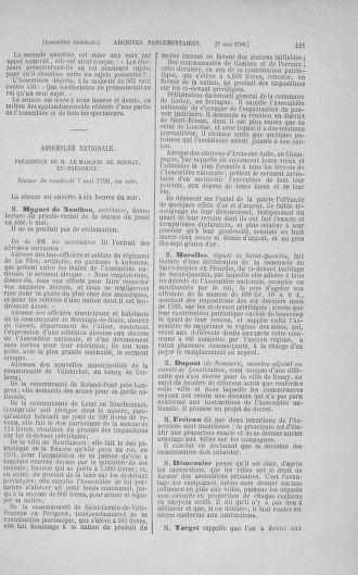 Tome 15 : Du 21 avril au 30 mai 1790 - page 421