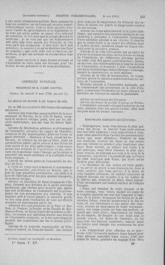 Tome 15 : Du 21 avril au 30 mai 1790 - page 433