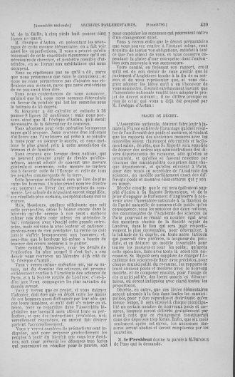 Tome 15 : Du 21 avril au 30 mai 1790 - page 439