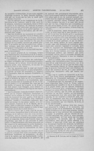 Tome 15 : Du 21 avril au 30 mai 1790 - page 485