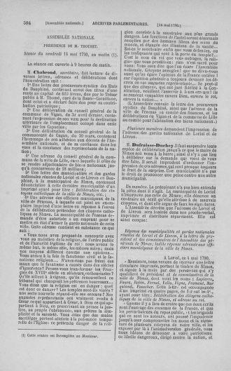 Tome 15 : Du 21 avril au 30 mai 1790 - page 504