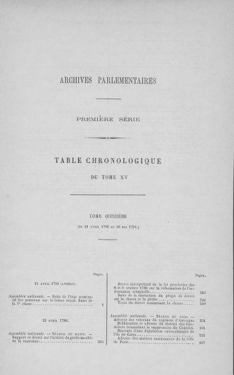Tome 15 : Du 21 avril au 30 mai 1790 - page ..