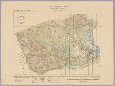 Quebec Topographic Map.Topographic Map Ontario Quebec Petawawa Sheet In Searchworks Catalog