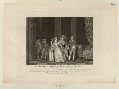 Les  Derniers adieux de Louis XVI à sa famille [estampe]