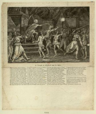 Le  Triomphe de Marat dans les enfers [estampe]