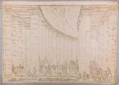 S. Pietro in Vaticano. Portico del Bernini, interno