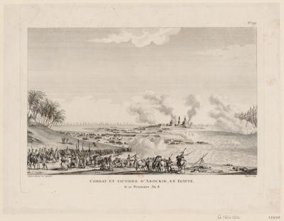Combat et victoire d'Aboukir, en Egypte le 10 brumaire an 8. [i.e. 7 thermidor an 7] : [estampe]