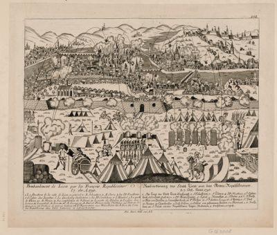 Bombardement de Lion par les François Republicains le 7. 8br. A. 1793 [estampe]