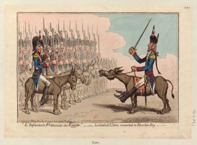 """""""L'Infanterie francaise en Egypte."""" _ Le Genéral l'Asne converted to Ibrahim Bey [estampe]"""
