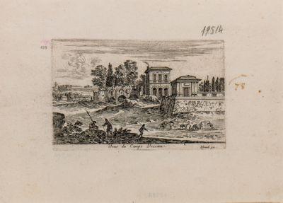 Foro Romano, Campo Vaccino, recinto degli Orti Farnesiani