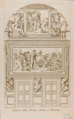 Palazzo Farnese. Galleria, parete di fondo con la figura di Perseo