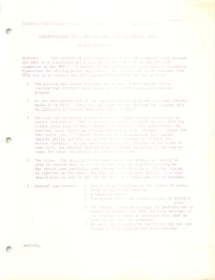 Stanford Time-Sharing Project Memo : Specifications for a General Input Routine for the PDF-1. Memo 01