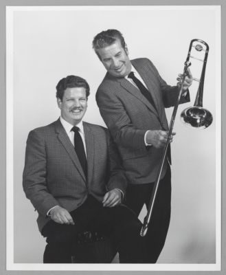 Pete Clute and Turk Murphy posed publicity photo
