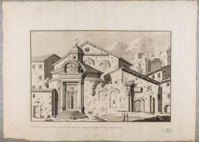 Tempio di Romolo, prospetto sul Foro