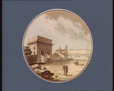 Vue de la porte St Bernard batie en 1670 [estampe]